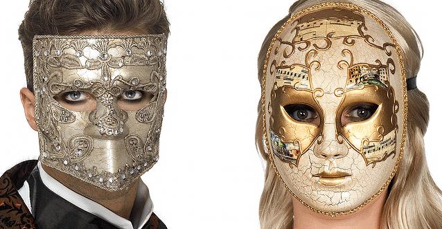 Face masks fancy dress halloween carnival masquerade half or full face